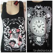 Gothic ärmellose Damenblusen, - tops & -shirts mit Rundhals-Ausschnitt
