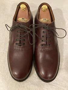 Red Wing 'Mil-1' 9088 Saddle Oxfords Burgundy Leather Mens 10D *Free Shoe Trees*