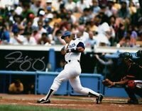 Steve Yeager Signed Autographed 8X10 Photo LA Dodgers Home Post Swing Horz w/COA