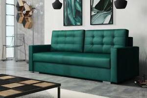 LARGE SOFA BED New Stella Grey Brown Dark grey Beige Green 3 seater Sofa Bed