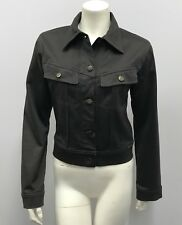 PLEIN SUD JACKET CHARCOAL GREY TONE SIGNATURE BUTTONS AND PATCH SIZE 38 6