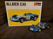 Monogram McLaren Elva 1:24 1/24 Vintage Slot Car Racing Car Very Nice Clean 1966