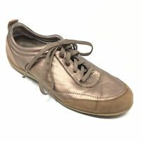 Women's Vionic Casual Walking Shoes Sneakers Size 8M Bronze Brown Orthotic AI1