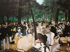 EDOUARD MANET stampa-MUSICA nell' GIARDINI Tuileries, 61x46cm, TOP HAT Wall Art