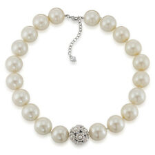 $95 Carolee ALL AMERICAN GIRL Faux Pearl Flower Bead Collar Necklace NEW