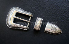 """Replacement Buckle Antique Rope Edge Engraved Belt Buckle Set Fit 1"""" Wide Belt"""