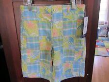 NWT HARTSTRINGS boys sea life plaid patchwork shorts 10 $50