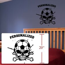 Soccer Futbol crossbones room decal,Football fifa decal,fathead style stickers