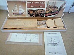 "VINTAGE BILLING BOATS NR492 HMS BOUNTY WOODEN BOAT KIT 1:50 SCALE 30 "" LONG BOAT"