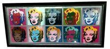 "ANDY WARHOL MARILYN MONROE Wall Décor Modern POP ART Huge Framed 57"" x 26"""