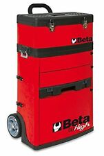 Beta Tools C41H RED Mobile Tool Trolley, 3 Slide Out Drawers and Removable Top