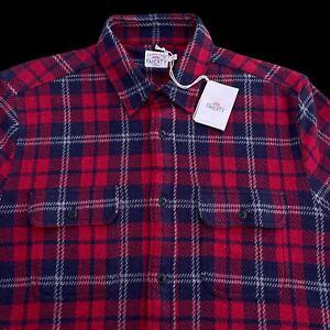 Faherty Legend Sweater Shirt Heritage Plaid Large, XL $178
