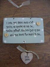 Placas y señales decorativas Shabby Chic de madera para el hogar