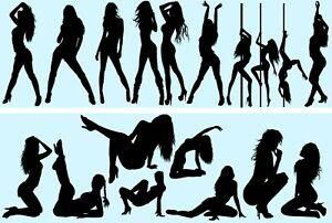 Wall Stickers Sexy Woman Silhouette Hot Lady Attractive Girl Decal Home Decor
