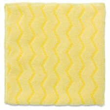 "Rubbermaid Hygen Q610 16"" Microfiber Bathroom Cloth- Yellow Case of 12"