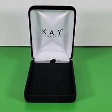 Kay Jewelers Pendant Gift Box Black Velvet Necklace Presentation Box