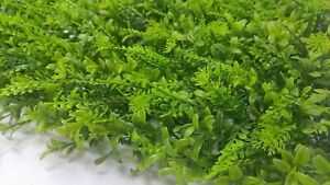 50 Pack - Artificial Hedge Black Locust and Cypress Leaves Foliage Wall Mat - D