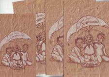lot 16 emballages sachets papier publicitaires  - divers - bon etat