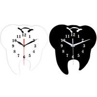 Timelike Creative Tooth Shaped Wall Clock Dental Ornament Wall Clock 3D T3B8