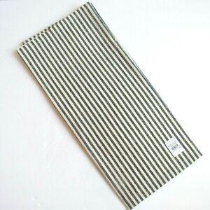 "Pottery Barn Wheaton Stripe Tea Towel White Sailor Blue 20"" x 30"" Linen Blend"