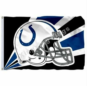 Indianapolis Colts Helmet Lighting Flag 3X5 FT Polyester NFL Football Banner