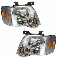 Oem New Front Right Left Headlight Lamp Set (2) 06-10 Explorer & Explorer Sport