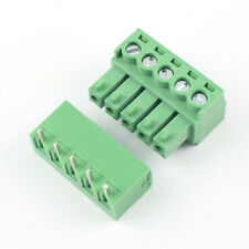 10Pcs 3.81mm Pitch 5 Pin Angle Screw Pluggable Terminal Block Plug Connector