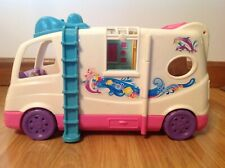 Fisher Price Loving Family Camper Rv Motor Home Dollhouse Beach Vacation