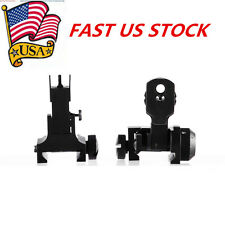 US Iron BUIS QD Flip Up Front Rear Sight Attach Floding Backup Dual Apertures