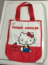 Hello Kitty Sanrio 2009 35 Years Limited Edition Three Apples Tote Bag RARE NEW