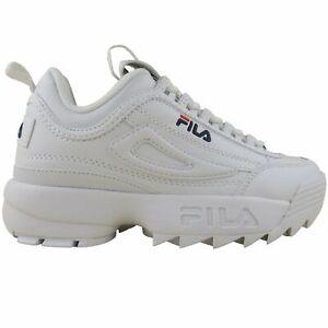 Fila Kids White Disruptor II 2 Grade-School Lifestyle Casual Shoes