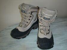 Columbia Bugaboot BL1365-265 Omni-Tech Womens Boots Sz 6 Beige Cream/Black EUC