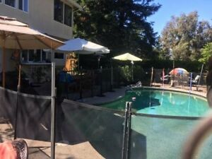 Swimming Pool fencing, used. In deck installation if needed..12 10' sections.