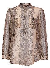 Animal Print Long Sleeve Classic No Tops & Shirts for Women