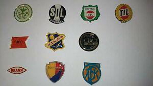 Collection 10 Footbal pins  Norwegian team.