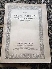 incunabula typographica - pars tertia .number 745  joseph baer & co (german )