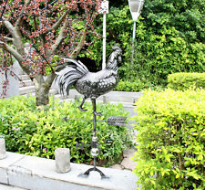 Handmade Rooster Weathervane Stainless Steel Farmhouse Barn Rustic Outdoor Decor