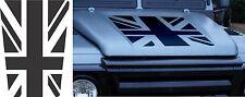 LAND ROVER DEFENDER 90 / 110 Aftermarket DECAL Bonnet Sticker SET UK Flag Union