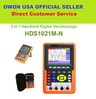 Handheld OWON HDS1021M-N Digital Oscilloscope FFT Waveform Record  Replay SCPI