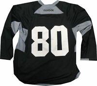 Los Angeles Kings Game Used Practice Jersey Black McDonalds Patch Reebock #80