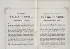 Gruß an Kaiser Franz Joseph I. und Kaiserin Elisabeth Fregatte Novara Faksimile