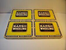 Preowned Marsh Wheeling Empty 25 Cigar Box Original & Genuine Lite Wear Lot Of 4