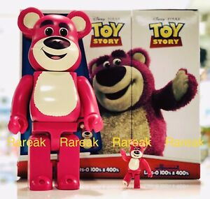 Medicom Bearbrick 2019 Disney Toy Story Lotso 400% + 100% Huggin Bear Be@rbrick