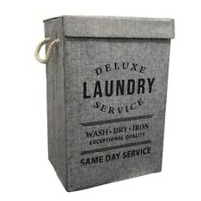New Fabric Laundry Hamper Basket With Lid Bin Washing Clothes Bag Foldable Box