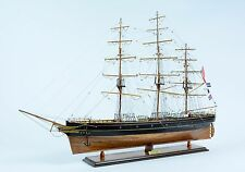 "Cutty Sark Clipper Tall Ship Handmade Wooden Ship Model 40"" - NO SAILS"