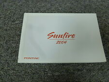 2004 Pontiac Sunfire Coupe Owner Owner's Manual User Guide Book 2.2L