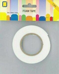 JeJe Double-Sided Foam Tape Roll   -  1mm x 12mm x 2m