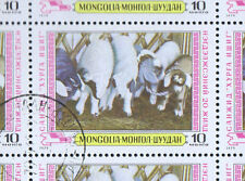 Used Sheet Mongolian Stamps