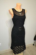 Karen Millen black OPENWORK dress size 10