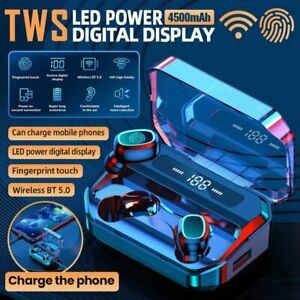TWS Bluetooth 5.0 Kopfhörer mit 4500mAh Ladebox Stereo Headset In-Ear Ohrhörer